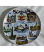 Hamburg Germany Hafen Humel St. Michel Small Souvenir Plate Plaquette 3 ... - $19.99