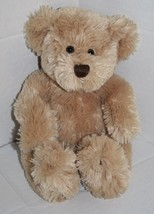 """Animal Adventure TEDDY BEAR 10"""" 2004 Sits 8"""" Tan Plush Soft Brown Stitched Nose - $24.14"""