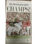Washington Nationals World Series Champions Newspaper Washington Post 10... - $31.67