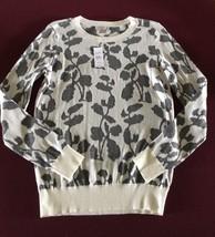 New Ann Taylor Gray White Crew Neck Sweater Size XS NWT $49 - $24.74