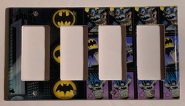 Batman Comics USPS Stamps Light Switch Power Outlet Wall Cover Plate Home decor image 5