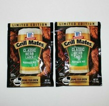 2X New McCormick Grill Mates Classic Herb Lager Marinade Mix 1oz Best By... - $4.94