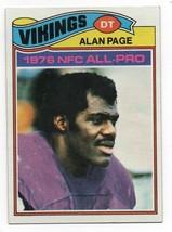 1977 Topps #230 Alan Page (HOF) Vikings VG+ - $2.25