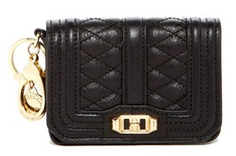 Rebecca Minkoff Mini Quilted Love Key Fob Leather Bag Charm Coin Purse - $58.06