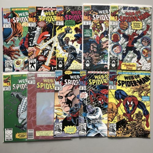 Lot of 20 Web of Spider-Man (1985 1st Series) from #76-120