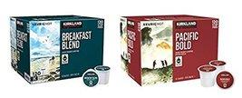 Kirkland Signature Breakfast Blend & Pacific Bold K-cup Bundle - Include... - $114.82