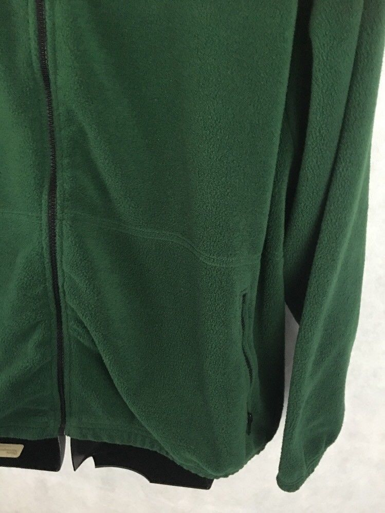 Weather Perfect Fleece Full Zip Jacket Green Size 2XL Large Front Zip Pockets