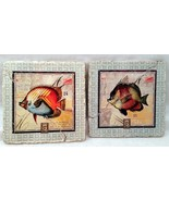 Fish Stamp Plaques Set of 2  - $9.89