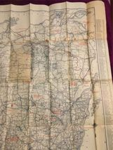 "Vintage1924 Rand McNally Wisconsin Auto Trails Map Folding 34""x27"" image 3"