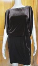 Jessica Simpson Brown Velvet Peek-A-Boo Sleeves Diamond Open Back NWT Dress - $21.78