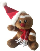 "Coca Cola Coke Gingerbread Man Plush Stuffed Animal Soft Toy 5"" EUC - $14.99"