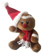 "Coca Cola Coke Gingerbread Man Plush Stuffed Animal Soft Toy 5"" EUC - $14.99"