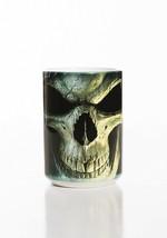 Big Face Death Grim Reaper Skull Halloween Ceramic Coffee Mug Cup 15 oz ... - $19.79