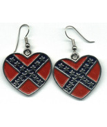 Women's Fashion Rebel Heart Jewelry Surgical Steel Drop Dangle Earrings  - $9.99