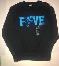 Nike Penny Foamposite Foams Vs Crew Sweatshirt Black Blue Men's Size XS - $30.60