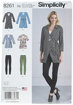 Simplicity Patterns US8261R5 8261 Misses' Wrap Tunic in Two Lengths and ... - $2.94
