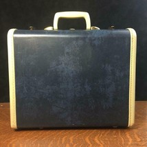 Vintage SAMSONITE Dark Blue Small Suitcase w/ Key Shwayder Bros. Travel ... - $46.74