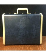 Vintage SAMSONITE Dark Blue Small Suitcase w/ Key Shwayder Bros. Travel ... - $46.74