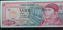 Banco de Mexico 20 Pesos Note,UNC - $2.95