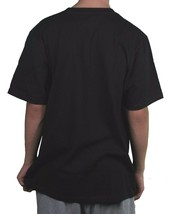 LRG Lifted Research Group Men's Black Skeleton Graffiti Tagged Spray Can T-Shirt image 2