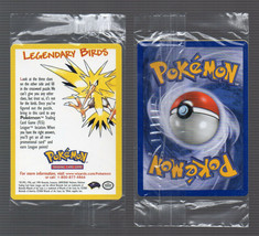 PoKeMoN 2000 Movie PROMO LEGENDARY BIRDS SEALED RARE Single Card Nintendo - $7.91