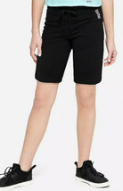Justice Girl's Size 14-16 Plus Knit Bermuda Shorts in Black New with Tags - $14.84