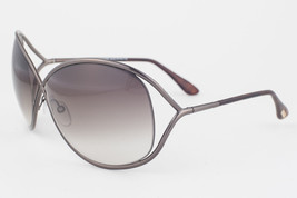 Tom Ford Miranda Shiny Dark Bronze / Brown Gradient Sunglasses TF130 36F - $185.22