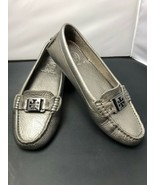 Tory Burch Kendrick Pewter Leather Driving Moc Loafers Shoes Womens 5.5 M - $83.30