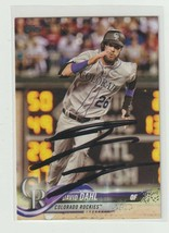 David Dahl 2018 Topps On Card In Person Autograph. - $3.22