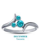 December Birthstone Tanzanite 14k White Gold Plated 925 Silver Mickey Mo... - $25.99