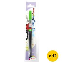 Pentel Arts XGFL-111 Refillable Fude Color Brush Pen (12pcs)-Light Green - $55.13