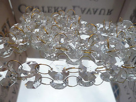 100Pcs Chandelier Crystal Drops Brass Chain glass Beads For Wedding Chandelier - $9.13