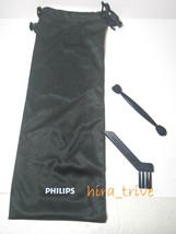 Philips Norelco Pouch Bag w/ Cleaning Brush BG2040 BG2039 BG7050 BG2028 ... - $11.31