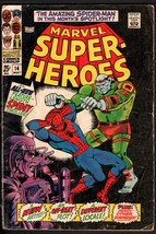 MARVEL SUPER-HEROES #4-SPIDER-MAN ISSUE-1967-MARVEL SILVER-AGE - $18.62