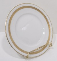 Hermann Ohme Silesia 24K Gold Bread Butter White,Gold Verge Encrusted Trim  - $24.99