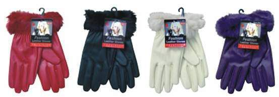 Case of [72] Women's Leather Gloves - Medium, Large