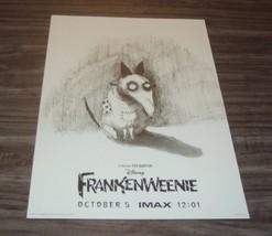Disney FRANKENWEENIE Tim Burton Premiere LIMITED EDITION IMAX PROMO POST... - $19.80