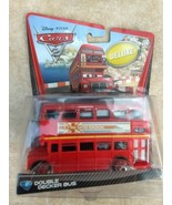 2010 Mattel sealed Disney Cars Pixar Double Decker Deluxe Bus metal toy ... - $34.77