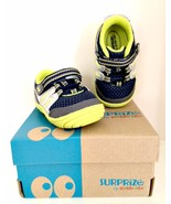 Aston Sneaker Surprize by Stride Rite Infant Toddler Boys Navy Lime Size 3 - $18.80