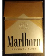 CIGARETTE BOX EMPTY PACK USA MARLBORO 72s with Virginia NVCTB tax stamp - $3.28