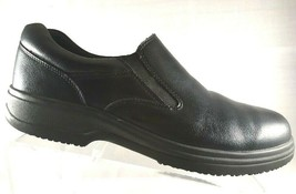 Deer Stags Men's Loafers Size 10 M Oil Slip Resistant Black Leather Krypton - $26.27