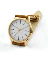 Rose Gold Minimalist Watches with Long Stripe Watch for Men Watch for Women - $36.00