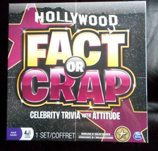Hollywood Fact or Crap Celebrity Trivia with Attitude 3-8 Players Adult Game - $2.97