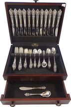 Eloquence by Lunt Sterling Silver Flatware Service Set 74 Pieces Dinner ... - $5,250.00