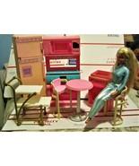 Barbie Furniture Barbie Doll and Barbie Kirtchen - $25.00