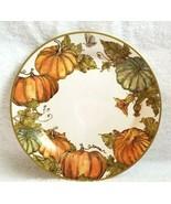 Pottery Barn Set/4 HERITAGE PUMPKIN SALAD PLATES Thanksgiving NWOT NICE! - $79.99