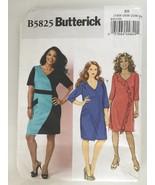 Butterick B5825 Sewing Pattern Plus Size Dress Knit 18W 20W 22W 24W - $7.62