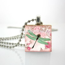 2015 New Scrabble Game Tile Jewelry Dragonfly Rose Pendant Gifts For Her... - $8.03