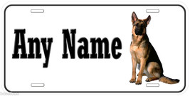 German Shepherd Dog Aluminum Any Name Personalized Car Auto License Plate - $14.80