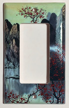 Famous Chinese Landscape Painting Light Switch Outlet Duplex Wall Cover Plate image 3
